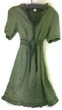 Venus Womens Dress Peasant Boho Green Size 8