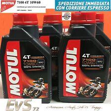 4 Litri Motul 7100 10W60 4T Olio Motore Moto 100% Sintetico Estere