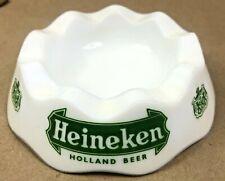 Vintage Heineken Holland Beer Milk Glass Ashtray Opalex France Bar Barware Brew