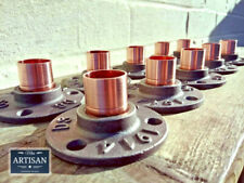 10 x 22mm Copper Malleable Iron Floor / Wall Flange Pipe Mount Fits 22mm Pipe