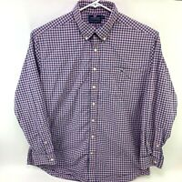 Vineyard Vines Mens XXL Slim Fit Tucker Shirt Pink Blue Check Button Down