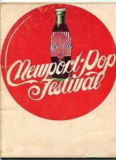 1968 Newport Pop Festival Program Grateful Dead Byrds Sonny & Cher Steppenwolf
