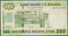 TWN -. RWANDA 30b - 500 Francs 1/2/2008 UNC Prefix AE
