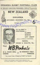 NEW ZEALAND ALL BLACKS TOUR 1953 v SWANSEA RUGBY PROGRAMME