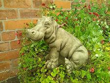 More details for 🇬🇧stone garden hippopotamus / hippo statue ornament figure safari 🦛🦛🦛