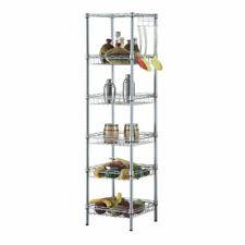 New listing 6 Tier Wire Shelving Unit Adjustable Mesh Shelf Rack Kitchen Storage Organizer