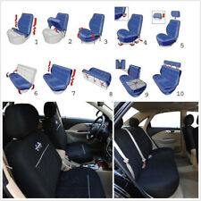 Classic Washable Car Seat Covers Set with Headrest Covers Embroidery Protector