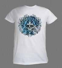 Death Metal Rock Moto Pulpo cráneo Cool Blanco T-Shirt