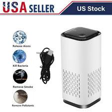 Usb Car Air Purifier Hepa Ionizer Portable Mini Car Room Air Cleaner Freshener