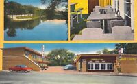 Linen Postcard City Motel in South Bend, Indiana~126542