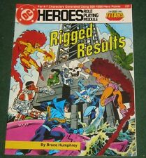 DC HEROES truquées résultats Role Playing Module 229 The New Teen Titans RPG