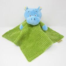 TJM Little Safari blue green Hippo comforter blankie doudou plush baby soft toy