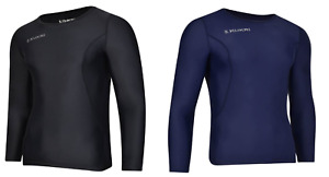 Kukri Sports Men's Long Sleeve Compression Shirt Baselayer Top - New