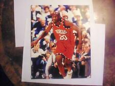 JUMAINE JONES 1999 PRESS PASS AUTHENTICS AUTOGRAPHED 8 X 10 PICTURE NBA!