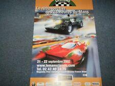 1 Le Mans Classic 2002 UFFICIALE ACO POSTER 24 Heures ASTON MARTIN FERRARI P4 P3