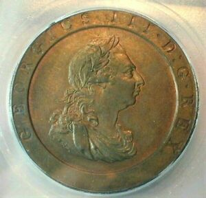 1797 Great Britain Penny Certified ICG MS62 BN KM#618  (Z196)