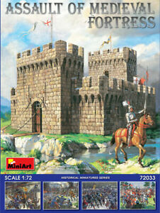 MINIART 72033 ASSAULT OF MEDIEVAL FORTRESS 1/72 Scale model kit