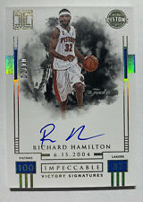 RICHARD HAMILTON 17-18 Impeccable VICTORY SIGNATURES GOLD ON CARD AUTO AUTO #/10