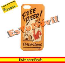 Carcasa funda iPhone SE / 5 / 5s diseño camarera vintage Free Beer amarilla