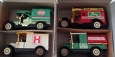 NIB~SET OF 4 CLASSIC TRUCKS 1912 MODEL T TANKER & AMBULANCE 1918 DELIVERY VAN 4""