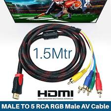 1080P Male HDMI to 5 RCA Audio Video Converter AV Adapter Component RGB Cable YS