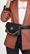 TORY BURCH Black Bum Bag Waist Bag chain-embellished belt bag
