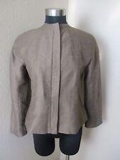 Lafayette New York 148 Jacket Zip Front Brown Size 4