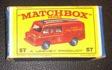 Vintage Matchbox Series No. 57 Land Rover Fire Truck Kent Fire Brigade BOX ONLY