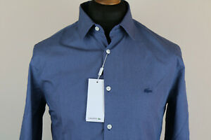 Lacoste mens slim fit stretch cotton shirt