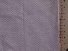 Patchwork Half Metre Lilac Spots on White 115cm x 50cm 100%Cotton