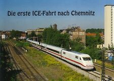 Ansichtskarte:die erste ICE - Fahrt nach Chemnitz am 24.6.1994, Hbf Chemnitz-Süd