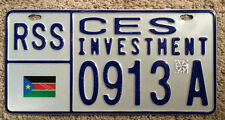 License Plates of South Sudan