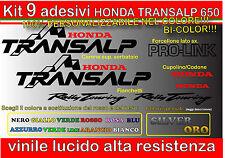 kit 9 adesivi  adesivi TRANSALP 650, transalp honda,650, restauro moto, sticker