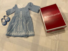 American Girl Caroline's Birthday Dress Complete with shoes RETIRED With Box