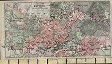 1925 GERMAN MAP ~ POTSDAM CITY PLAN ENVIRONS STATION NOWAWES PARKS GARDENS