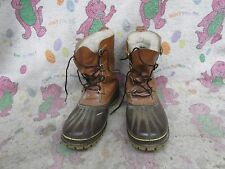 Vintage Sorel Kaufman Scout Men's Sz 13 Winter Snow Boots Leather Rubber