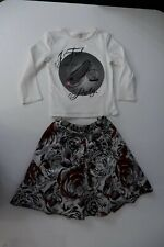 Microbe By Miss Grant Outfot Set Top & Skirt Size Age 7 Years Gc
