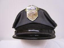 Vintage Hunt Bus Line Driver Hat w/ Cap Badge / Small Defunct Bus Company