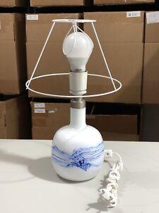 Le Klint Blue & White Glass Table Lamp