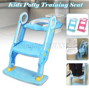 Kid Toilet Ladder Baby Toddler Training Toilet Step Potty Seat Non Slip Trainer