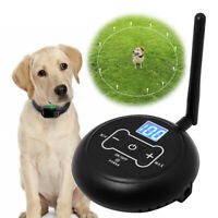 Waterproof Wireless Pet Electric Dog Fence Containment System Training Collars
