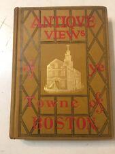 Rare Antique Views Of Boston W/ Foldout Maps & Faux Engraving Doolittle Birdseye
