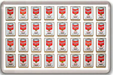 CAMPBELL'S SOUP CANS ANDY WARHOL FRIDGE MAGNET IMAN NEVERA