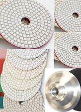 "5"" Diamond Polishing Pad 8 PC Aluminum Back Granite Stone Concrete Counter Top"