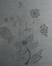 Carolina House Emboidery Blueberry Lace Floral Signed Instruction Booklet