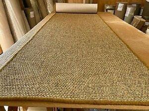 SISAL ECO FRIENDLY NATURAL WHIPPED MAT CARPET RUG/RUNNER 80cm x 478cm RRP £350