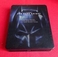 THE DARK KNIGHT TRILOGIE - CHRISTOPHE NOLAN - COFFRET 3 FILMS BLURAY EN BON ÉTAT