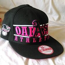 Oakland A's Baseball Cap Flat Brim Embroidered Strapback New 9Fifty