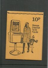 Great Britain Booklet 10 April 1974  British Pillar Boxes N10  Mint