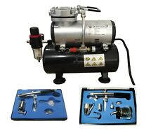 AIRBRUSH TANK COMPRESSOR KIT AIRBRUSHES AIR BRUSH COMPRESSOR AND HOSE.